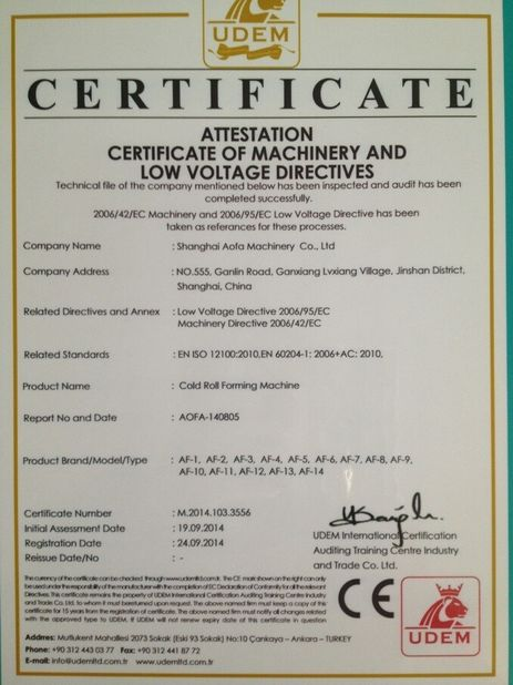 China Cangzhou Best Machinery Co., Ltd Certificaten